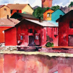 Red Fishing Houses (Porvoo, Finland)